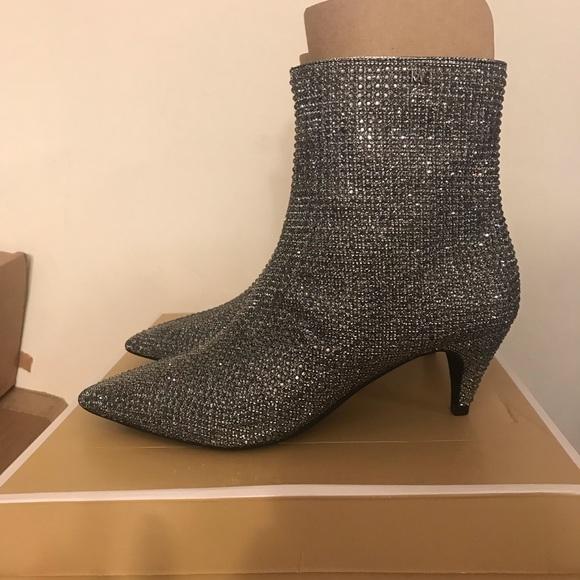 8698a41e7c4 NEW Michael Kors Blaine Flex Glitter-Mesh Booties NWT